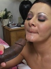 Dusty haired bitch Sandra Romain gets bubble ass black fucked and swallows cum - 4 anal movies
