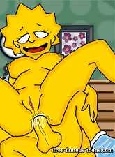 Shy Lisa Simpson hard fucked to ass by Bart and sex toys - 5 anal pictures