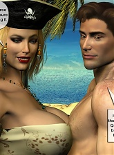 Breasty pirate princess seduces athletic guy and begin to fuck - 5 anal pictures
