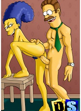 Marge Simpson gets whored out - 3 anal pictures