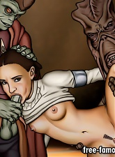 Star Wars heroes Anakin Skywalker and Padme Amidala hard sex - 5 anal pictures