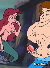 Teenie famous toon girl Mermaid Ariel in hardcore couple - 5 anal pictures