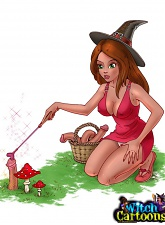 Red-haired witch using sex magic - 3 anime pictures