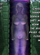 Blonde girl with big tits is playing virtual sex game with green aliens - 5 anal pictures