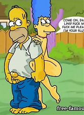 Lusty Homer and hot milf Marge Simpson in hardcore orgy - 5 anal pictures