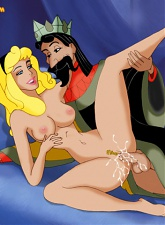 King Stefan is so horny, he can only think of what it feels to sink his royal cock into Aurora�s pink pussy - 5 anal pictures
