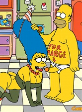 Homer gives Marge a special birthday gift - 5 anal pictures