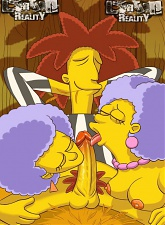 Cockteasers from Simpsons in actionJuicy babes from The Simpsons blowing and riding cocks - 3 anal pictures