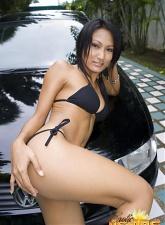 Sensational asian Akemi washing a car naked - 15 anal pictures