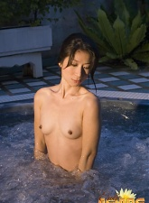 Corrupting Asian goddess showing her sexy assets in the jacuzzi - 15 anal pictures