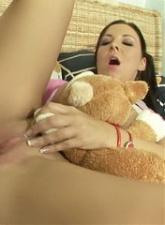 Innocent brunette girlfriend lick with lust a lollipop and finger her wet slit - 4 anal movies